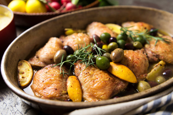 Mediterranean Chicken with Lemon and Olives