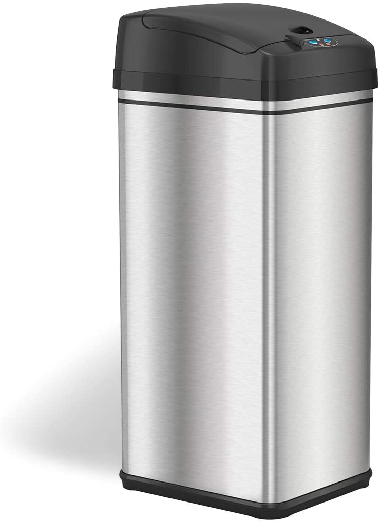 iTouchless Stainless Steel Automatic Trash Can