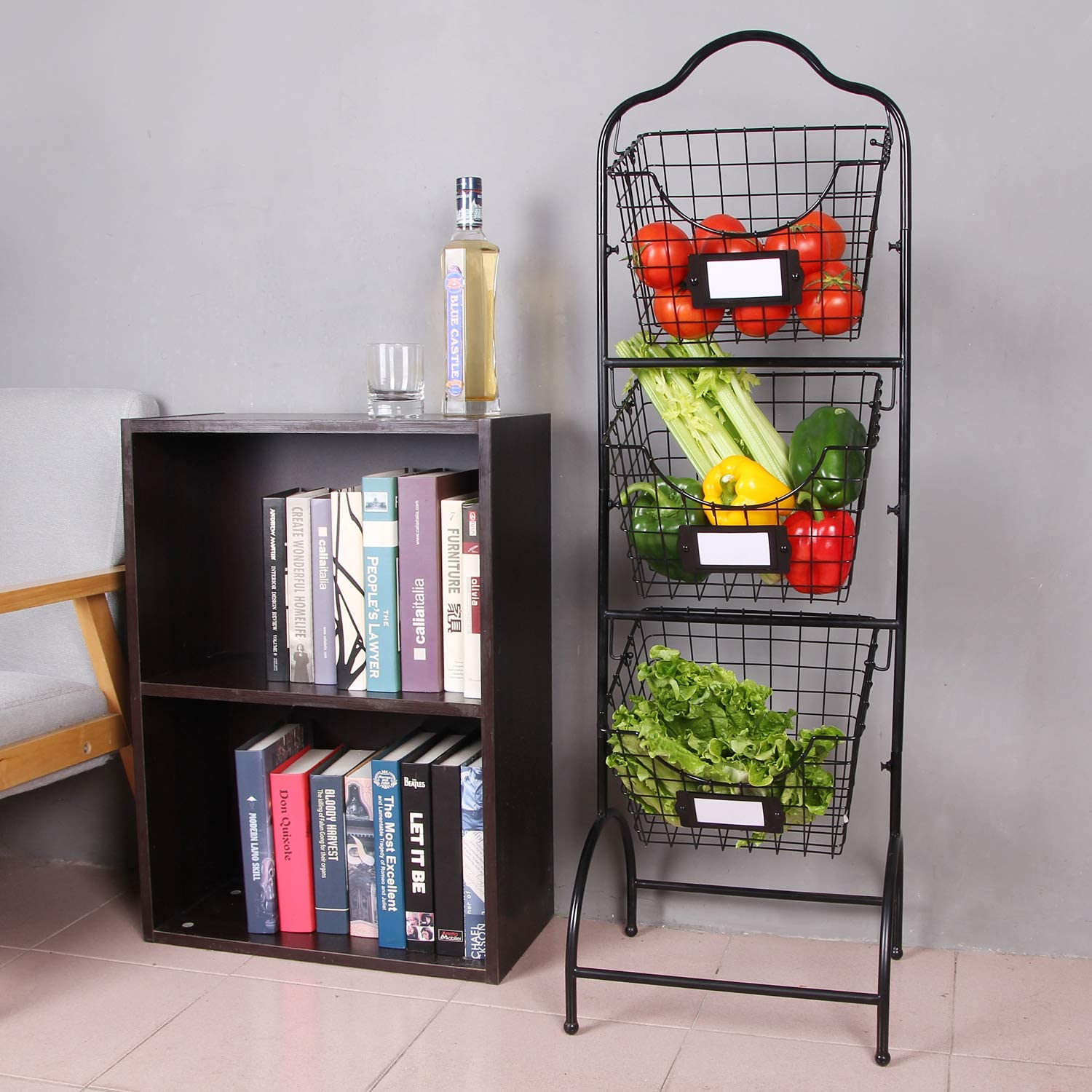 Sunny Living 3 Tier Basket Stand