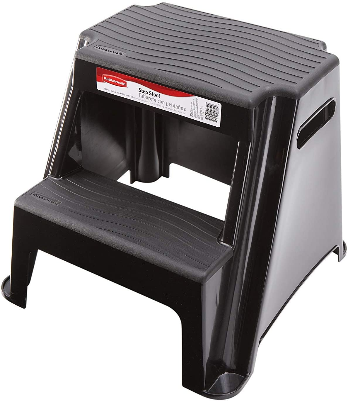 Rubbermaid RM-P2 Two Step Molded Plastic Stool