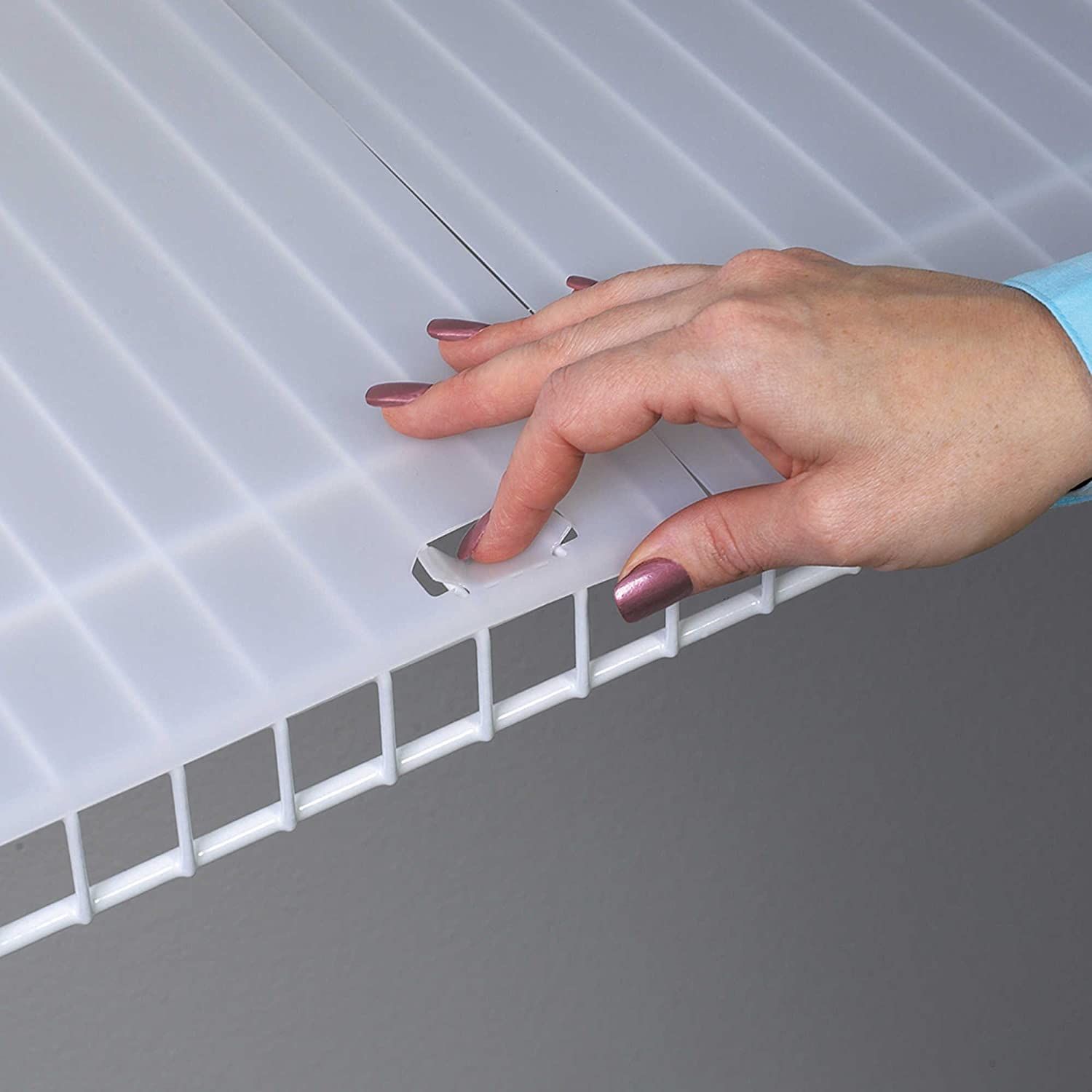 Conimar Shelf Liner For Wire Shelving With Locking Tabs
