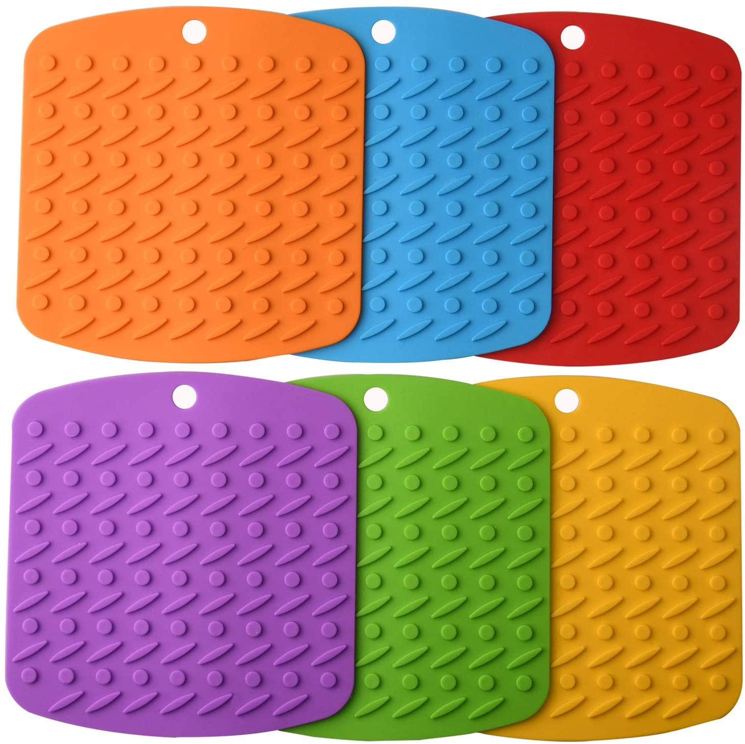Aibrisk Multipurpose Silicone Trivets Mats HotPad and Pot Holders
